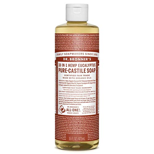 Dr. Bronner's Liquid Soap Eucalyptus, Flüssigseife Eukalyptus 473 ml - Naturseife -