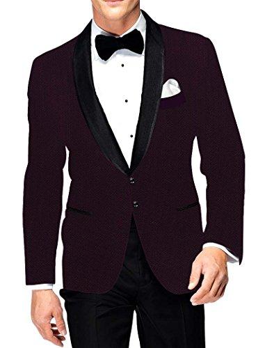 INMONARCH Herren Wein Polyester Viskose Blazer Partykleidung SB93L54 64 or 7XL (Höhe 182 cm bis 189...