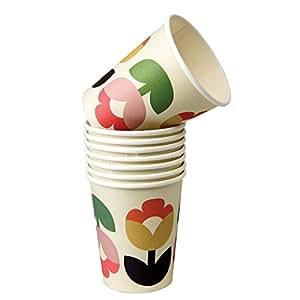 Set von 8Einweg Pappbecher–Design Auswahl, Papier, Tulip Bloom, Paper Cups