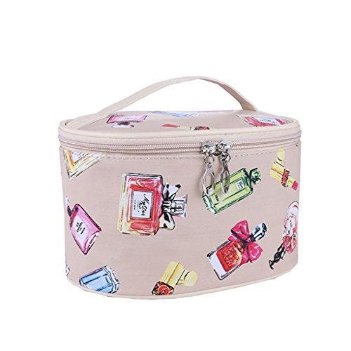 CLOTHES- Sacchetto cosmetico borsa portatile dell'acqua della borsa di viaggio sacchetto della borsa di lavaggio piccolo sacchetto quadrato sveglio pacchetto semplice ( Colore : Blu ) Beige