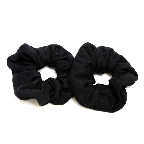 Haargummi-Set 2 Stück in schwarz aus Baumwolle 021-00152