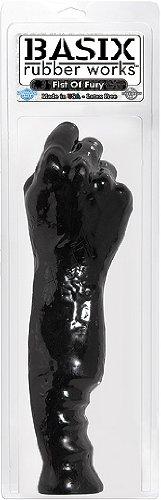 Pipedream Basix Rubber Works Braccio Realistico per Fisting Fist Of Fury, Nero - 1 Prodotto