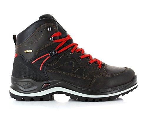 Schladminger Wander/scarpe da trekking Uomo Art. silberkar con suola Vibram e support System Dunkelbraun