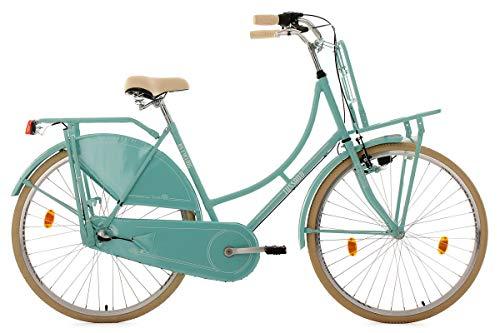 KS Cycling Damen Fahrrad Hollandrad Tussaud 3-Gang mit Frontgepäckträger RH 54 cm mint, 28 Zoll