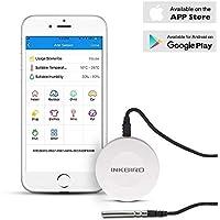 Inkbird IBS-TH1 Digital Bluetooth Hygrometer Thermometer Temperatur & Luftfeuchtigkeit Rekorder Sensor mit Magnetische Design für Babyzimmer, Weinkeller, Humidor, Keller, Zigarren für Android und IOS
