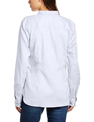 Tommy Hilfiger Jenna - Chemisier - Taille ajustée - Manches longues - Femme Blanc (CLASSIC WHITE 100)