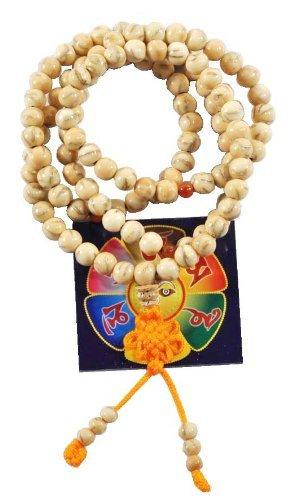 Preisvergleich Produktbild Tibetangold Ton Line Bodhi Samen Gummizug 108 Gebetskette Malas Halskette
