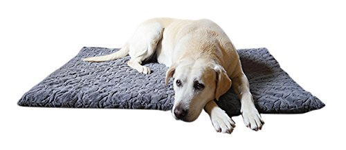 Rosewood quality orthopedic dog mattress small with plush outer and anti slip base, removable washable cover - ideal for older pets and pets with joint problems - grey - 56cm length x 38cm width Best Price and Cheapest