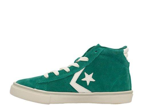 Converse Pro Leather Vulc Mid Suede unisex bambino, pelle scamosciata, sneaker alta verde