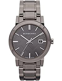 amazon co uk burberry watches men s the city gunmetal ip steel and dial