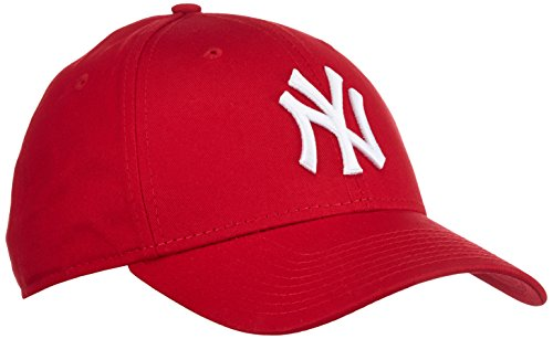 new-era-mens-mlb-basic-ny-yankees-9forty-adjustable-baseball-cap-red-scarlet-one-size