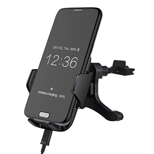 Bescita KFZ-Ladegerät, Qi Wireless Fast Ladegerät Ständer Air Vent Halterung für Samsung Galaxy Note 8 -