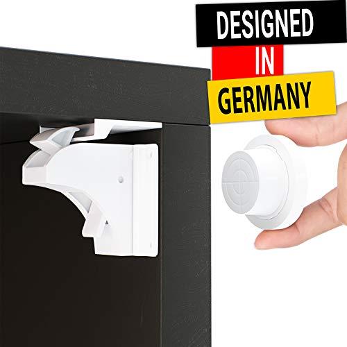 Magnetische Kindersicherung Schrank und Schubladen von Avantina® - 16 x Schranksicherung - unsichtbare Kindersicherung - Kinder-sicherung für Küchen, ohne Bohren