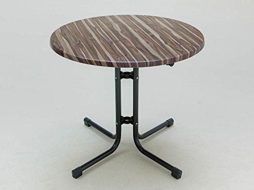 Gartentisch rund Farbe: Anthrazit / Brasilianisch Nussbaum (Brasilianische Holz-möbel Die)