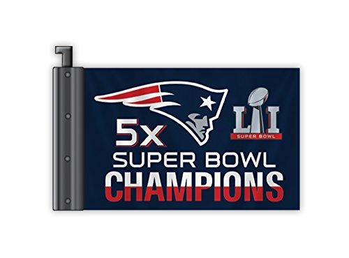 Fremont Die NFL New England Patriots Super Bowl 51 5X Champions Antenne Fahne Champions Auto-magnet