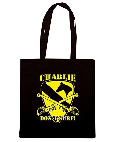 T-Shirtshock - Borsa Shopping T1018 CHARLIE DON T SURF militari Nero