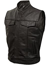 JAX - Classic Leather 'Cut-Off' Motorcycle Waistcoat