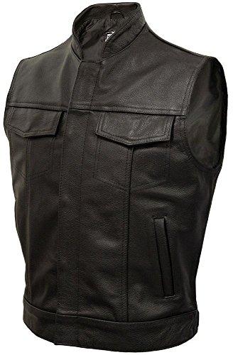 JAX - Classic Leather 'Cut-Off' Motorcycle Waistcoat