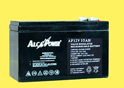 Pila batteria Ricaricabile Ermetica 12V 10Ah - (mm) 151x65x94(h) 204036 Alcapow