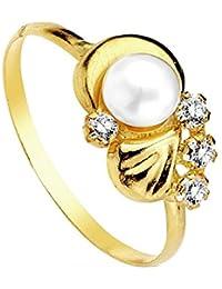Sortija oro 18k perla multipiedra [AB3106]