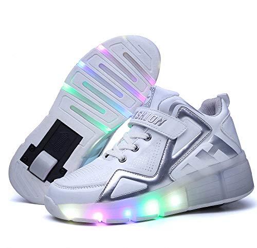 sports shoes 0358b a5624 Scarpe con Rotelle Bambino LED Scarpe da Rotelle Scarpe da Rotelle  Automatiche LED Luci Lampeggiante Sneaker Sportive Scarpe Skateboard Scarpe  con ...