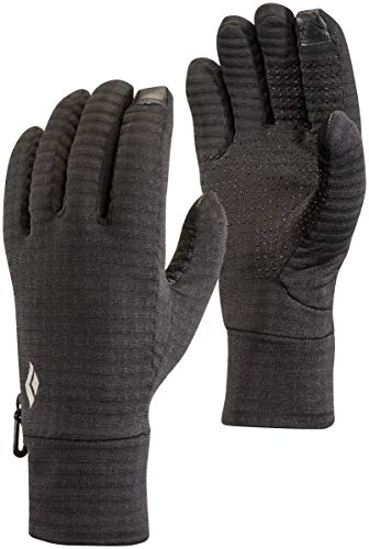 Black Diamond Lightweight Gridtech Handschuhe Touchscreen geeignet / Warmer, elastischer Winterhandschuh für zusätzlichen Halt bei sportlichen Aktivitäten / Black, Größe: S -