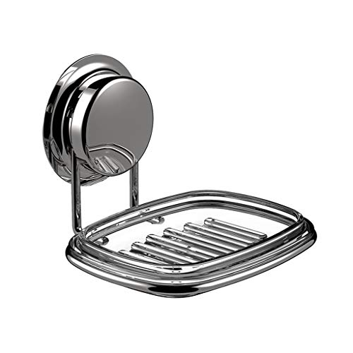 Y-only Saug-Seifenhalter Wandhalterung, Seifenhalter Schwämme Halter für Duschspülbecken, Rostfreier Edelstahl, 13,5 × 12,8 × 10,4 cm