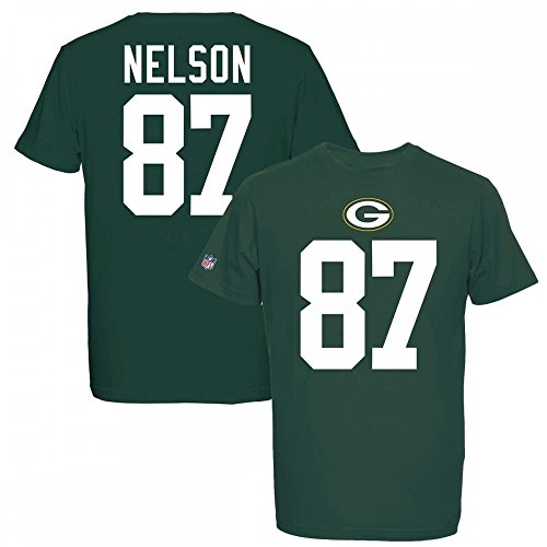 Majestic NFL JORDY NELSON #87 - GREEN BAY PACKERS Player T-Shirt, Größe:L Green Bay Packers Jordy Nelson