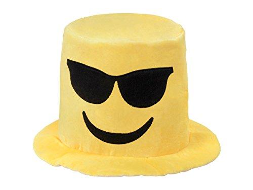 Emojicon Hut Emoticon Karneval Mütze Sepplhut Party-Hut Mallorca Smiley Partyhut Poo-Hut von Alsino, Variante wählen:KH-218 Cool