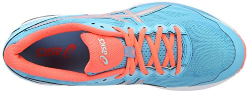 Asics Gt-1000 5, Scarpe Running Donna Multicolore (Aquarium / Silver / Flash Coral)