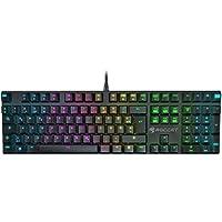 ROCCAT Suora FX RGB Illuminated rahmenlose mechanische Gaming Tastatur (DE-Layout, RGB Tastenbeleuchtung, rahmenlos) schwarz