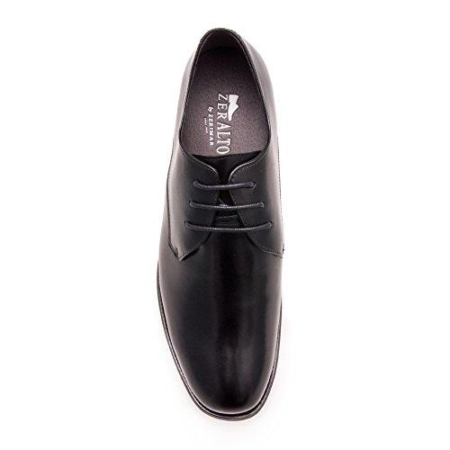 Zerimar Chaussures de Sport Rehaussantes Por Hommes Ajoutez + 7 cm à Votre Taille Fait de Cuir de Haute Qualité Noir