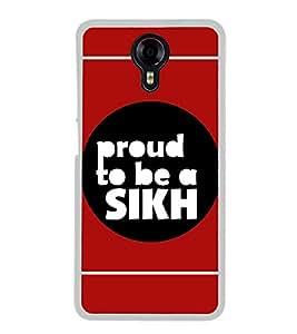 PrintVisa Proud Sikh High Gloss Designer Back Case Cover for Micromax Canvas Xpress 2 E313