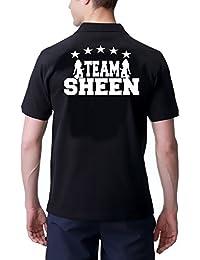 Team Sheen–Two and a Half Men–Mon Oncle Charlie avec Cooler Polo. S M L XL XXL XXXL