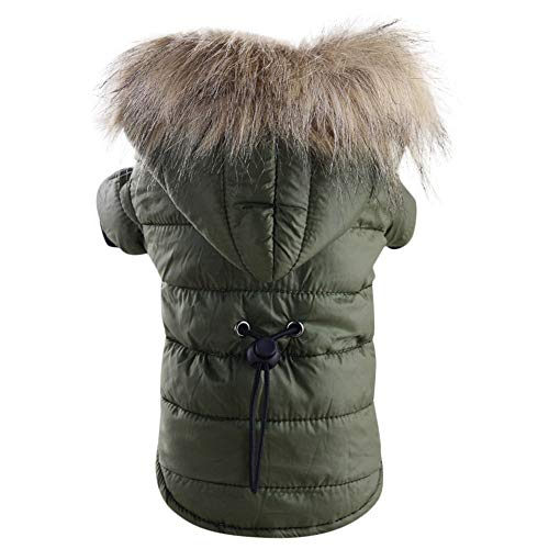 Dragon868 Hund PET Warm Down Cotton-Padded Jacke Kostüm Welpe Winter Hoodie Mäntel