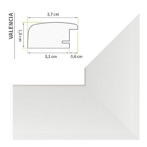 """Cadre photo """"Valencia"""" 60X84cm Blanc (mat)"""