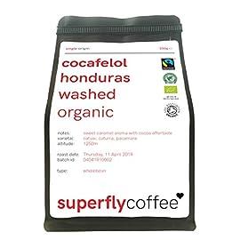 SUPERFLY – COCAFELOL Organic Bulletproof Coffee   1000g Wholebean   Single Origin Arabica   Triple Certified Honduran Coffee 41Y2kHw5ZkL