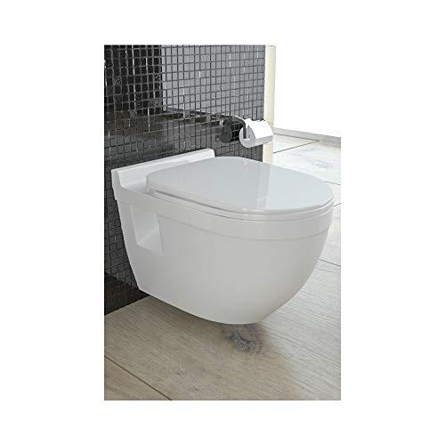 Hänge-WC (Tiefspüler) aus Sanitärkeramik mit Duroplast-WC-Sitz inkl....