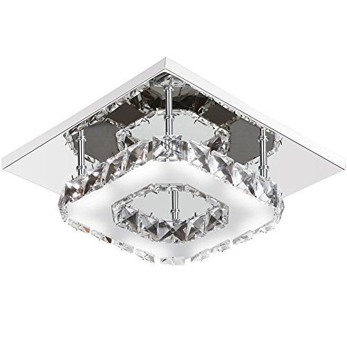 Modern Square 20 cm 12 W LED Crystal Ceiling Lights Chandeliers Aisle Light