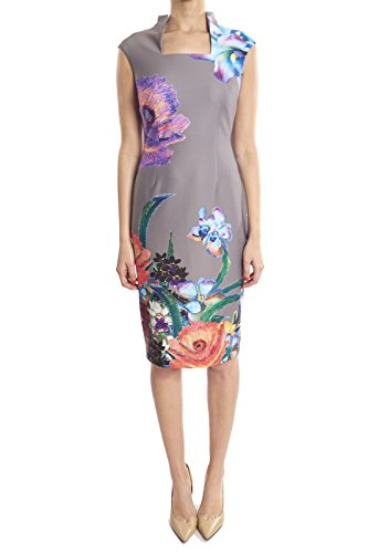 Joseph Ribkoff Flower Printed Sheath Dress with Cap Sleeves Style 183747