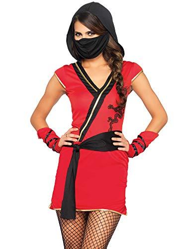 Wonderland- Mujer, Color Rojo, Negro, Medium (EUR 38-40) (Leg Avenue Inc. 8402981034494)