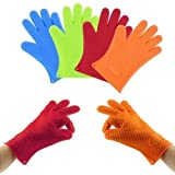 RIANA CREATION Microwave Silicone Baking & BBQ Heat Resistant Grilling BBQ Insulated Oven Gloves For Cooking