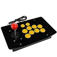 NOLOGO JS-mlx Acrílico con Cable USB Arcade Joystick la Lucha del palillo Juegos Controlador Gamepad del Videojuego for PC (Color : Amarillo)