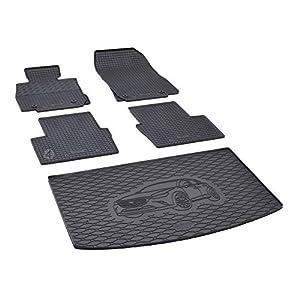 Kofferraumwanne und Gummifußmatten passgenau geeignet für Mazda CX-3 ab 2015 Farbe Schwarz