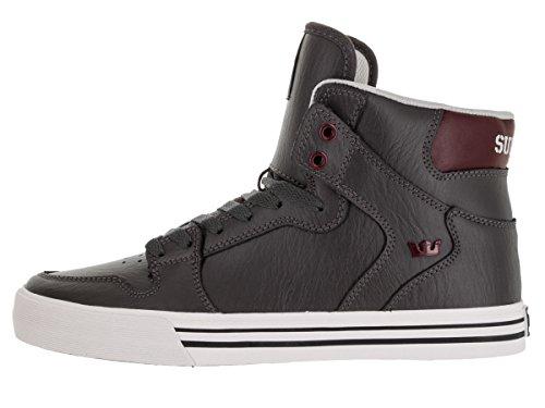 Supra VAIDER Unisex-Erwachsene Hohe Sneakers Grau