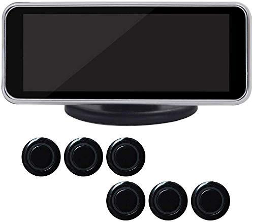 LCD Digitale Auto Kit Sensori di Parcheggio Anteriore e Posteriore Auto Retromarcia Radar Sistema, 6/8 Sensori di Parcheggio Auto Parcheggio Assist Retromarcia Radar con Display LED e Suono Allarm