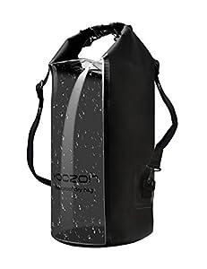 Wasserdichte Tasche,Yoozon Wasserdicht Outdoor Stausack/Aufbewahrungstasche/Trockentasche/Seesack für Bootfahren,Wandern,Camping,Angeln,Schwimmen,Snowboarding und andere Outdoor-Aktivitäten (Schwarz, 20L)