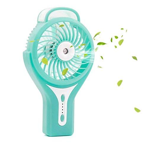 Yuany Kleine elektrische Fan Mini Hand tragen Spray Student Handheld USB wiederaufladbare tragbare Sommer Spray Fan (Farbe: grün) -