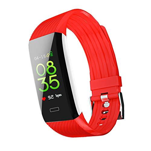 Fitness Tracker, Männer und Frauen Smart Fitness Watch, Heart Rate Monitor Smart Armband IP67 Wasserdichtes Smart Armband mit Health Sleep Activity Tracker Pedometer für Smartphone,red