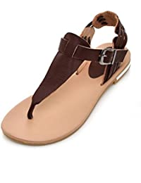 Sandalias Mujer/Sandalia con Pulsera para Mujer/La Versión Coreana del Verano Sweet Clip Toe Zapatos de Mujer...